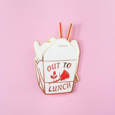 Little Arrow: Out to Lunch Pin
