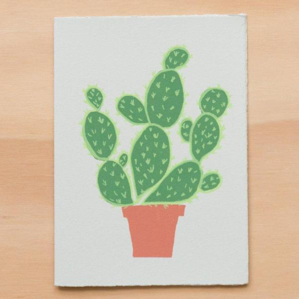 Gold Teeth Brooklyn: Potted Cactus Card