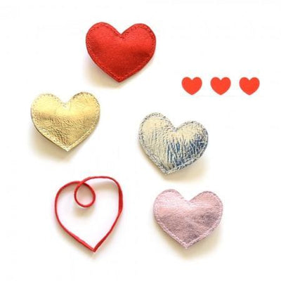 Hello Shiso: Big Heart Hair Clips, Set of 2