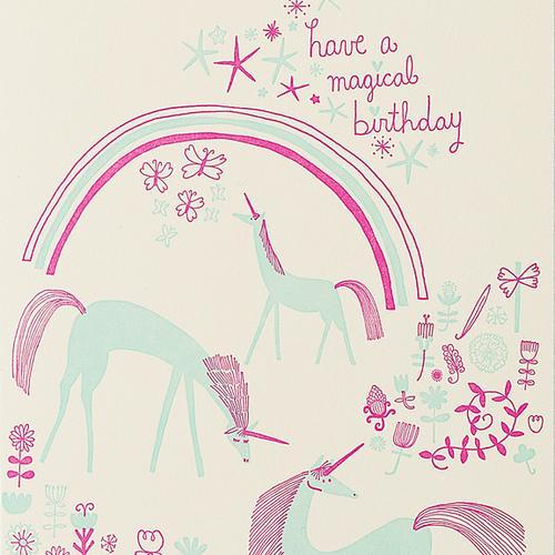 Hello Lucky: Unicorns Birthday Card
