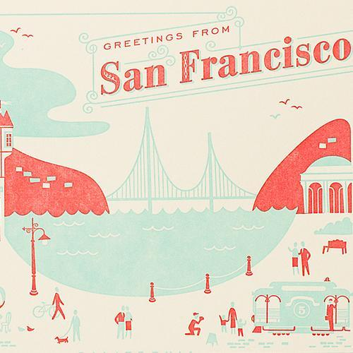 Hello lucky greetings from san francisco card kira hello lucky greetings from san francisco card m4hsunfo