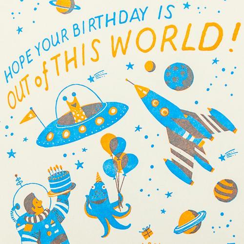 Hello Lucky: Space Birthday Card