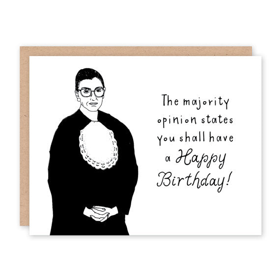 Party of One Paper: Ruth Bader Ginsburg Bday Card