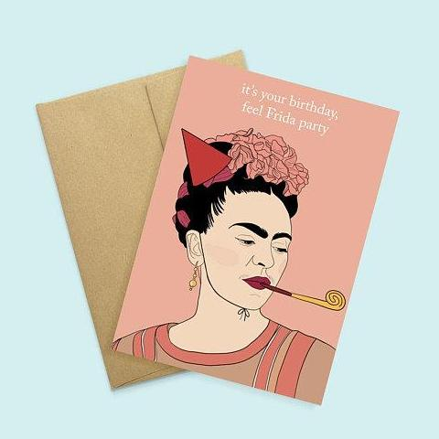Party Mountain Paper Co.: Frida Birthday Card