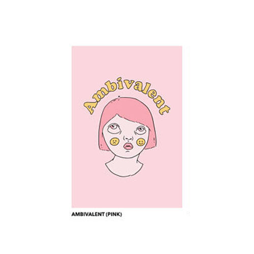 Ambivalently Yours: Ambivalent Postcard, Pink