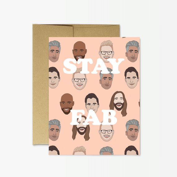 "Party Mountain Paper Co.: Queer Eye Fab Five ""Stay Fab"" Greeting Card"