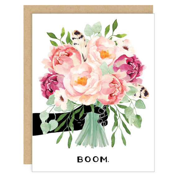 Party of One Paper: Peony Bouquet Card
