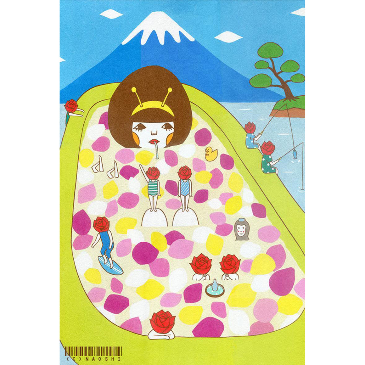 Naoshi: Art Print - Rose Bath, 8x10""