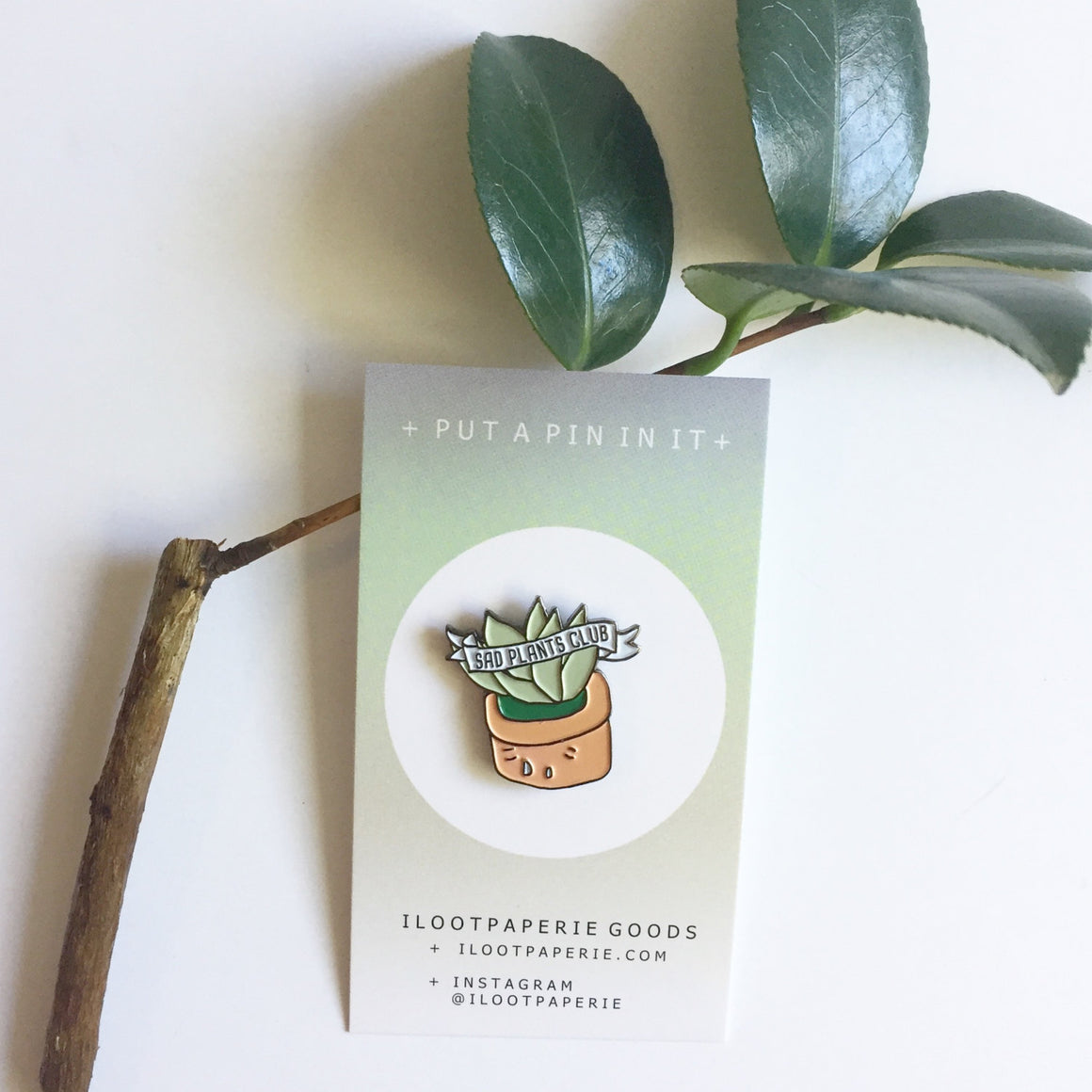 ILootpaperie: Sad Plants Club Enamel / Lapel Pin