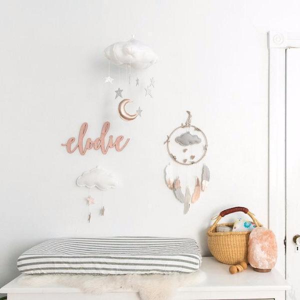 Baby Jive: Luxe Mini Heart Cloud Mobile