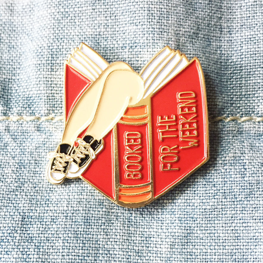 ILootpaperie: Booked for the Weekend Red Book Lover Enamel / Lapel Pin