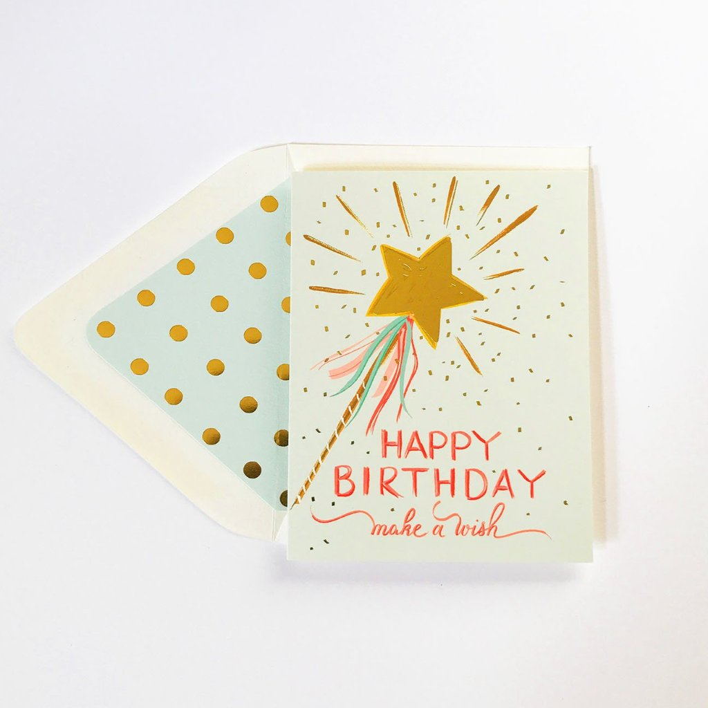 the first snow make a wish happy birthday card kira