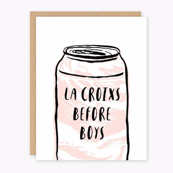 Party of One Paper: La Croixs Before Boys Card