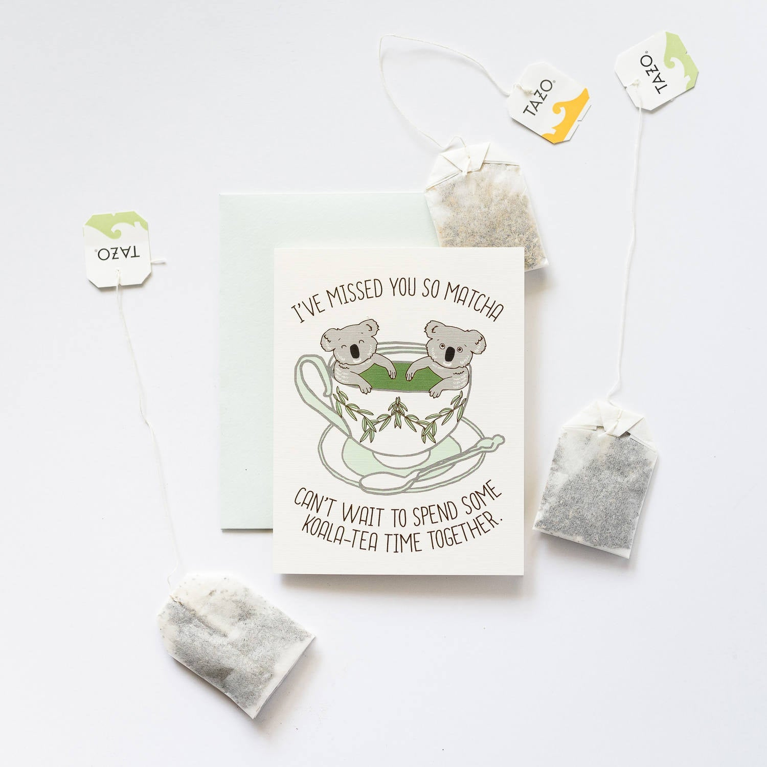 Ilootpaperie: Koala-Tea Time Greeting Card