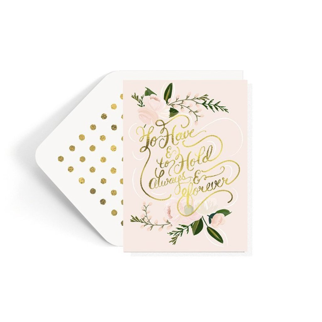 The First Snow: To Have and To Hold Wedding Card
