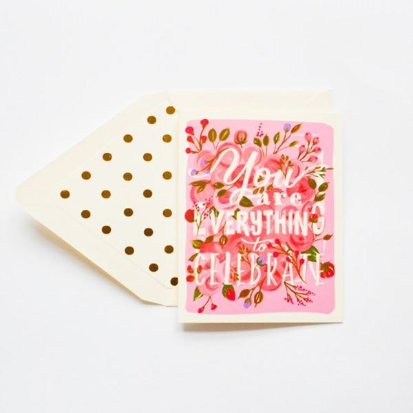 The First Snow: You are Everything to Celebrate Card