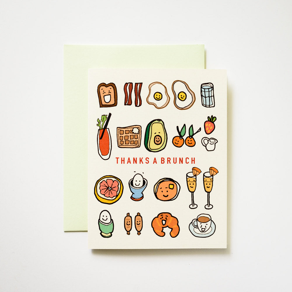Ilootpaperie:  Thanks a Brunch Breakfast and Lunch Greeting Card