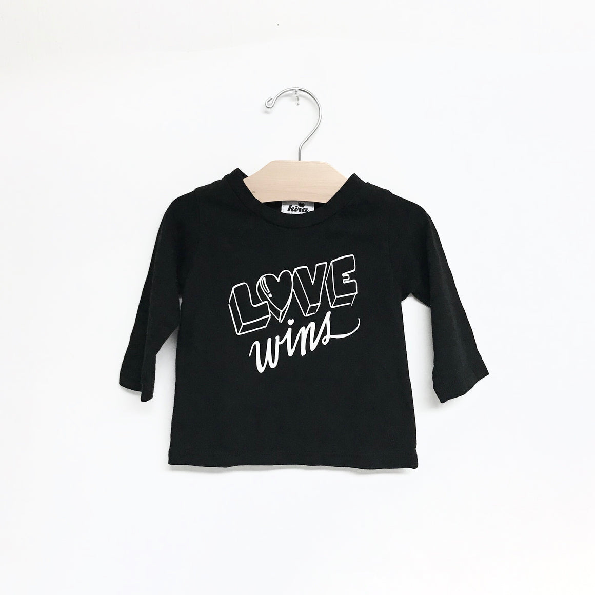 Love Wins Graphic T-shirt, L/S, Black