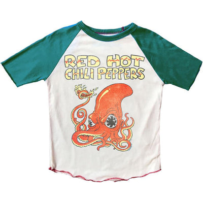 Rowdy Sprout: Red Hot Chili Peppers Short Sleeve Raglan Tee