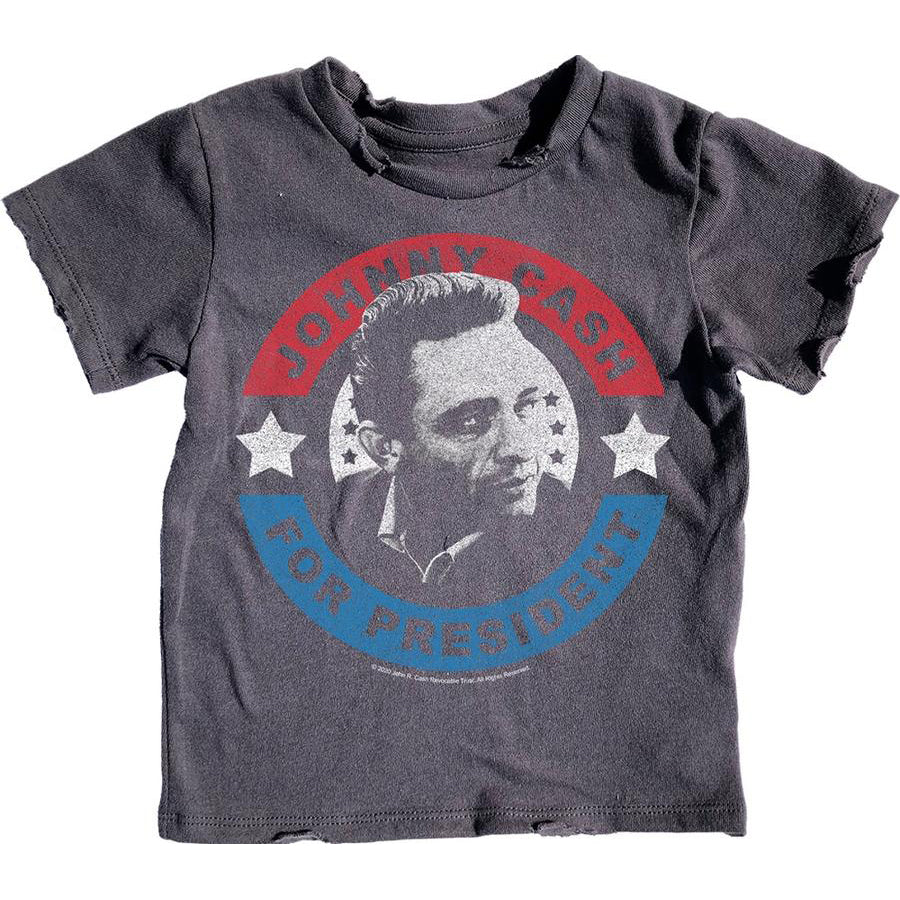 Rowdy Sprout: Johnny Cash for President Simple Tee
