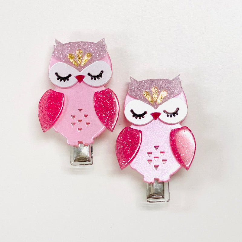 Lilies & Roses NY: Hair Clip, Owl (Set of 2)
