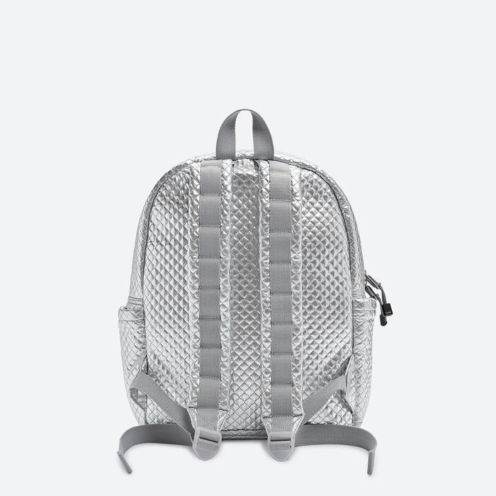 STATE Bags: Kane, Flatbush, Silver Quilted