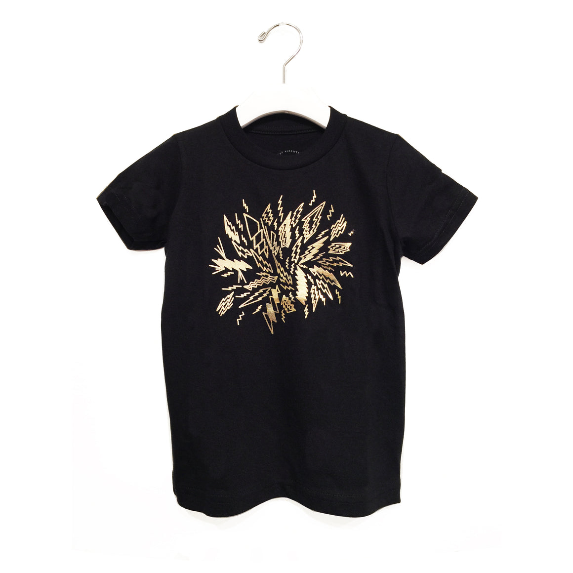 Kira x Coco, KID: Golden Bolts Graphic T-shirt, Black