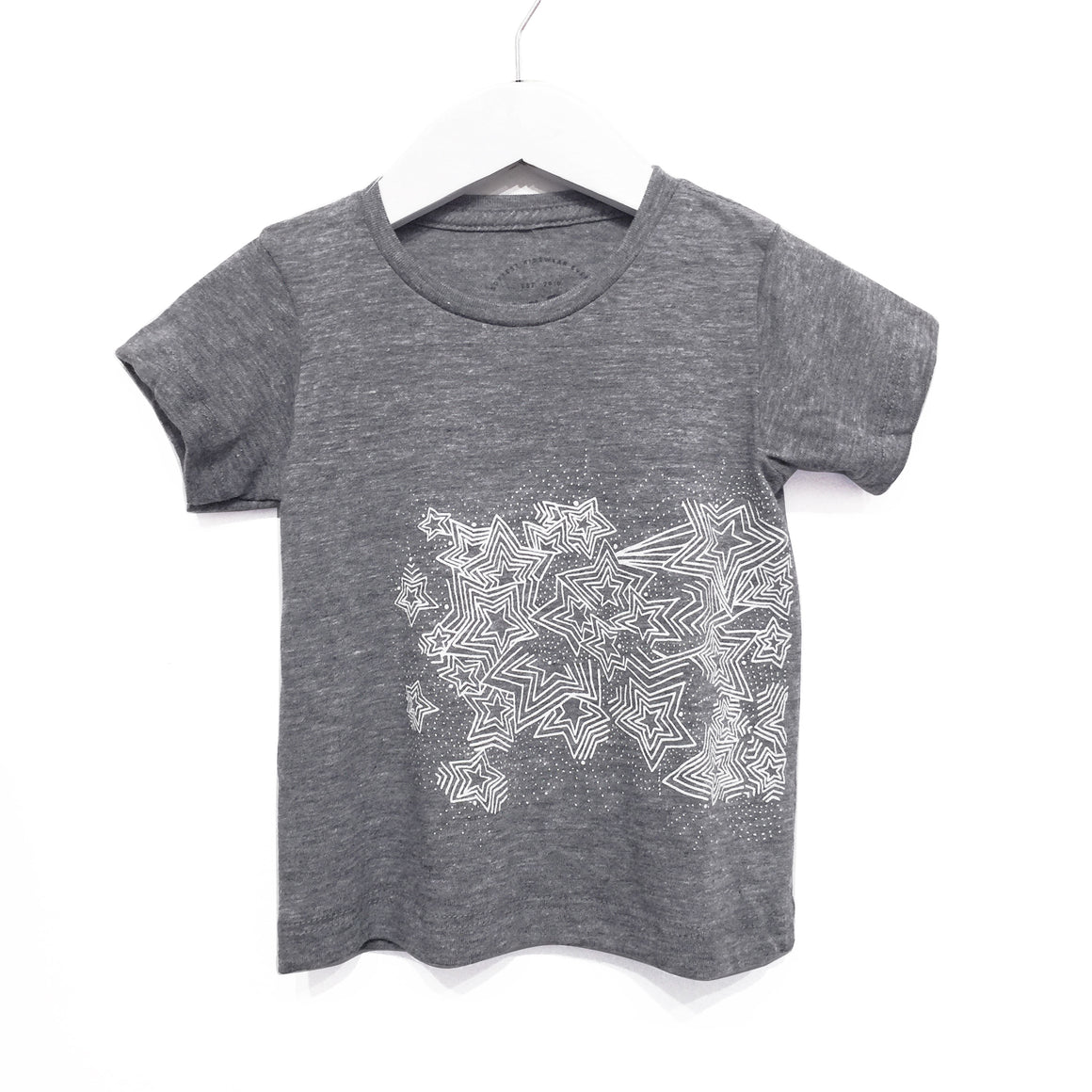Kira x Coco Kids Star Burst Graphic T-shirt, Heather Grey