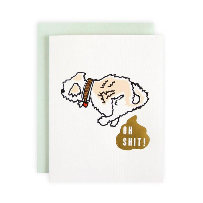 Ilootpaperie: Oh Shit! Greeting Card