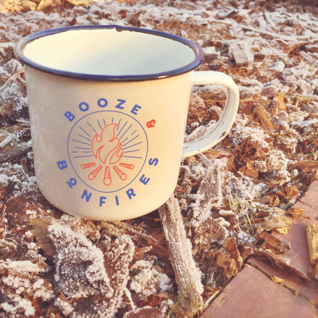 Enamel Co: Booze & Bonfires Mug
