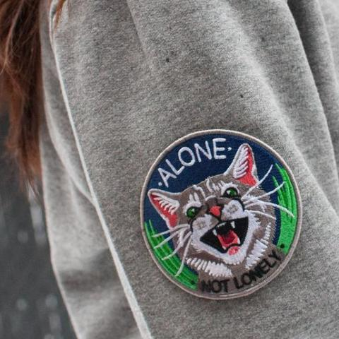 Stay Home Club: Alone Not Lonely Iron-On Patch