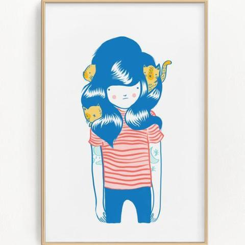 Stay Home Club: Nest Riso Print
