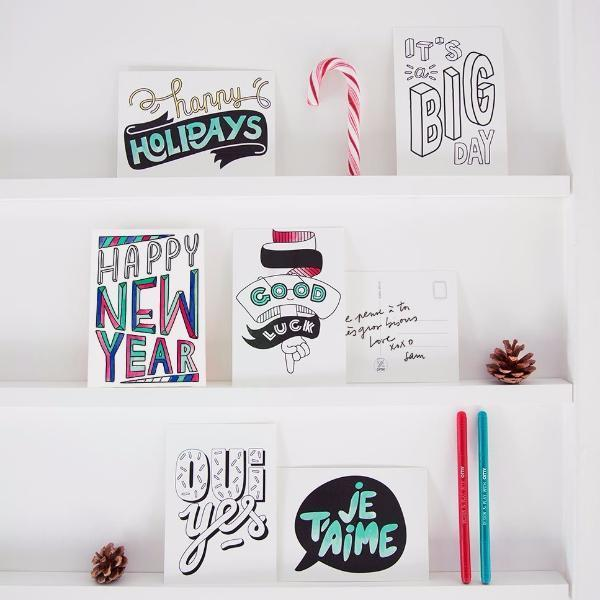 OMY: Postcards, Happy Messages (Pack of 16)