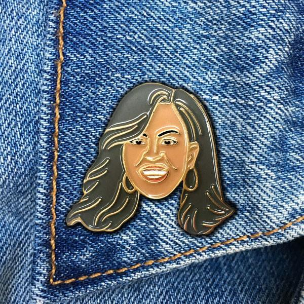 The Found: Michelle Obama Enamel Pin