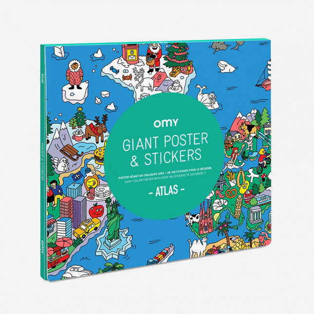OMY: Giant Poster & Stickers, Atlas