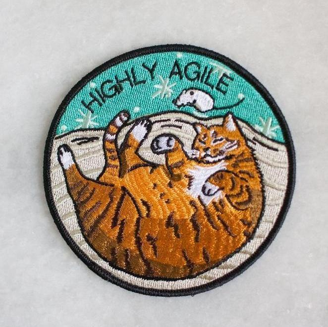 Stay Home Club: Agile Iron-On Patch