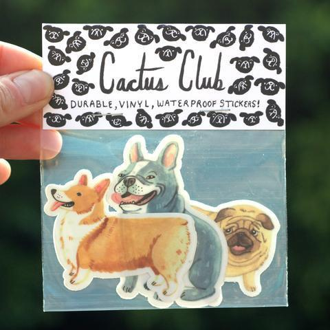 Cactus Club: Small Dog Sticker Pack Vol. 1