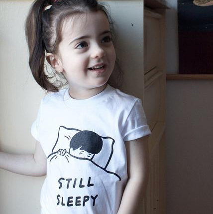Stay Home Club: Still Sleepy Kid's T-Shirt