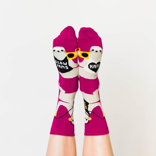Yellow Owl Workshop: Sloth Life Crew Socks