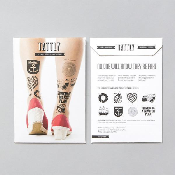 Tattly: Black Set (Set of 8)