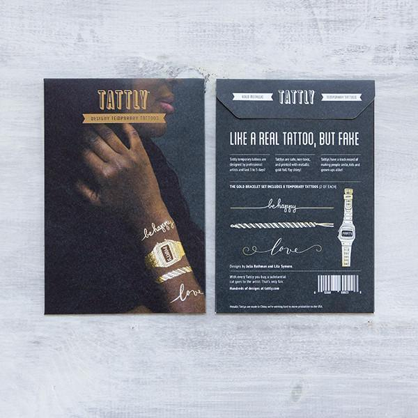 Tattly: Gold Bracelet Set (Set of 8)