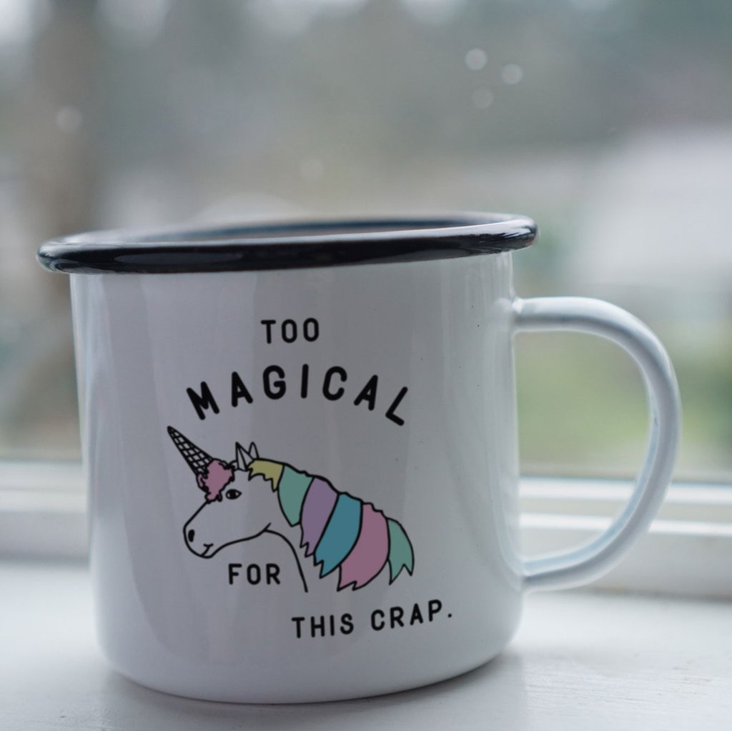 Enamel Co: Too Magical for this Crap Unicorn Mug