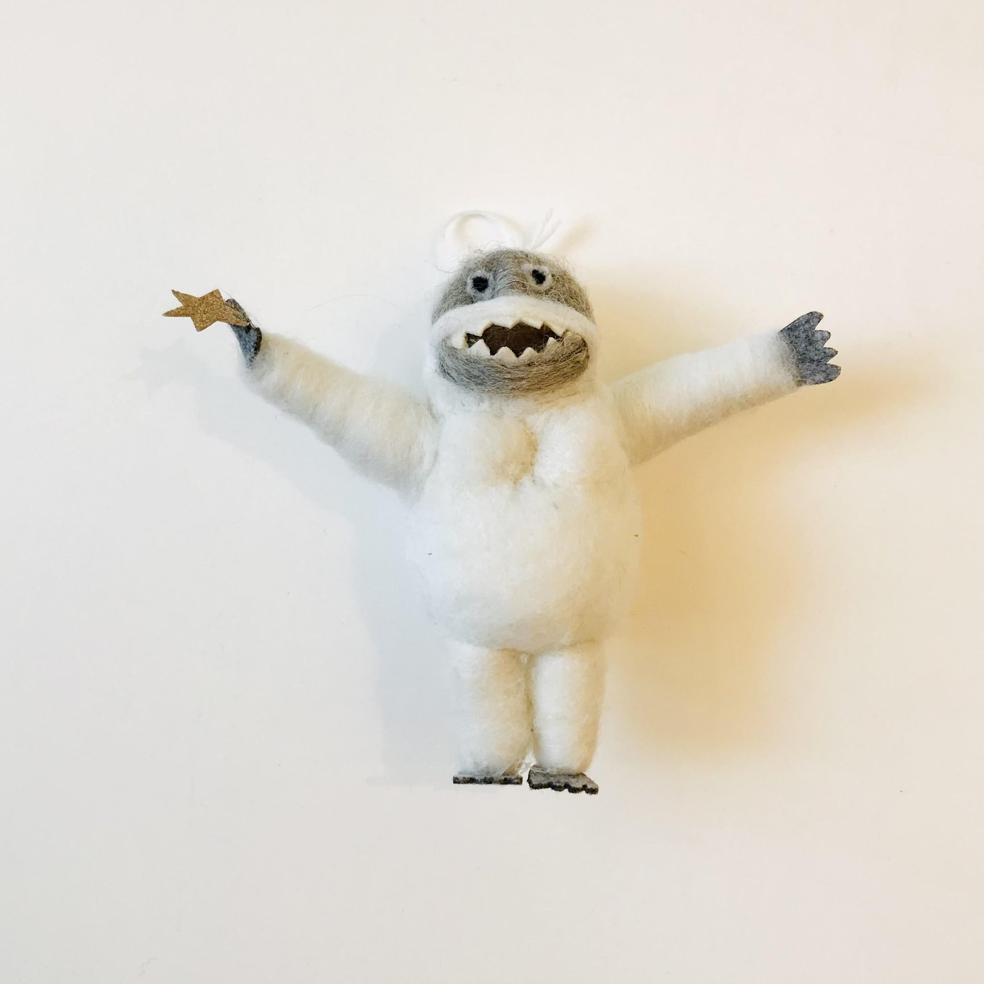 Cody Foster: Felted Abominable Snowman Ornament