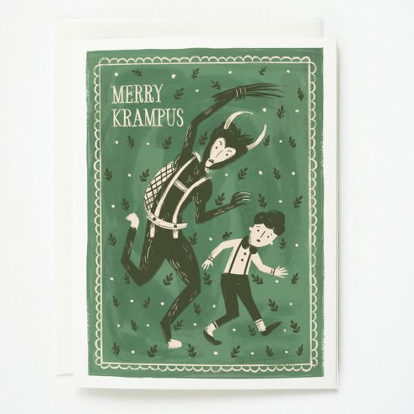Quill & Fox: Merry Krampus Boxed Cards (8 pcs)