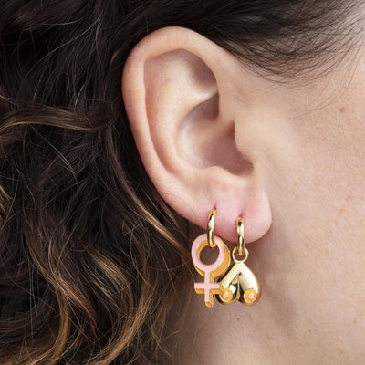 Yellow Owl Workshop: Women's Lib Hoop Earrings