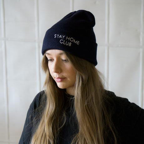 Stay Home Club: Stay Home Club Embroidered Beanie