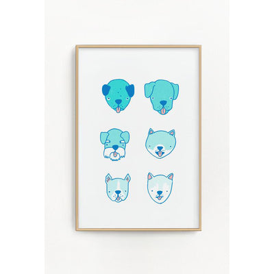 Stay Home Club: Dogs Riso Print