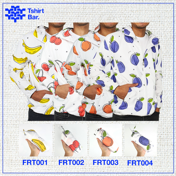 Jaket Lipat Full Print (Fruits Series)
