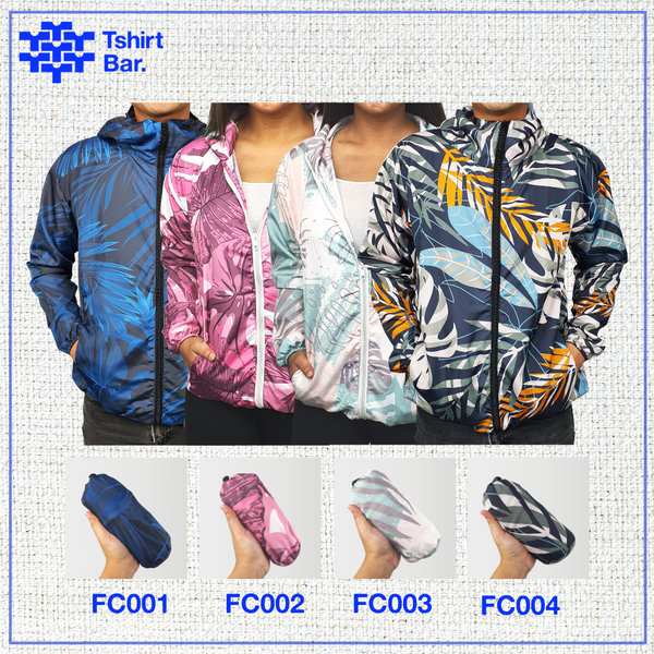 Jaket Lipat Full Print (Tropical Palm Leaves Series)
