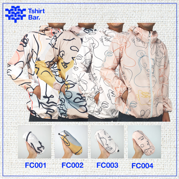 Jaket Lipat Full Print (Abstract Faces Series)